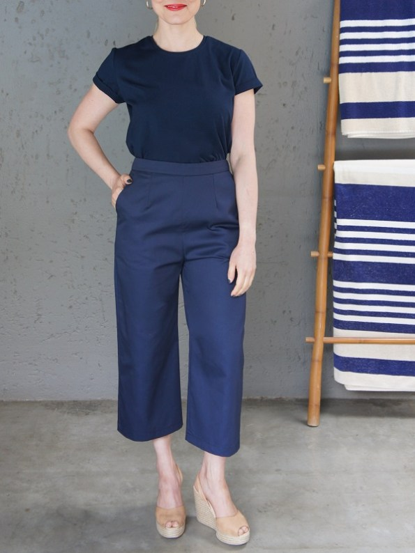 JMVB Jimmy D T-shirt Navy with Culottes Front