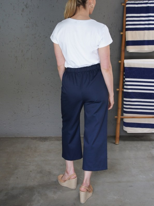 JMVB Jimmy D White T-shirt with Navy Culottes Back