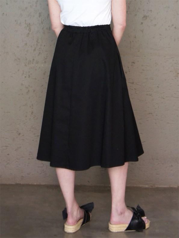 JMVB Joplin Skirt Black Back Cropped
