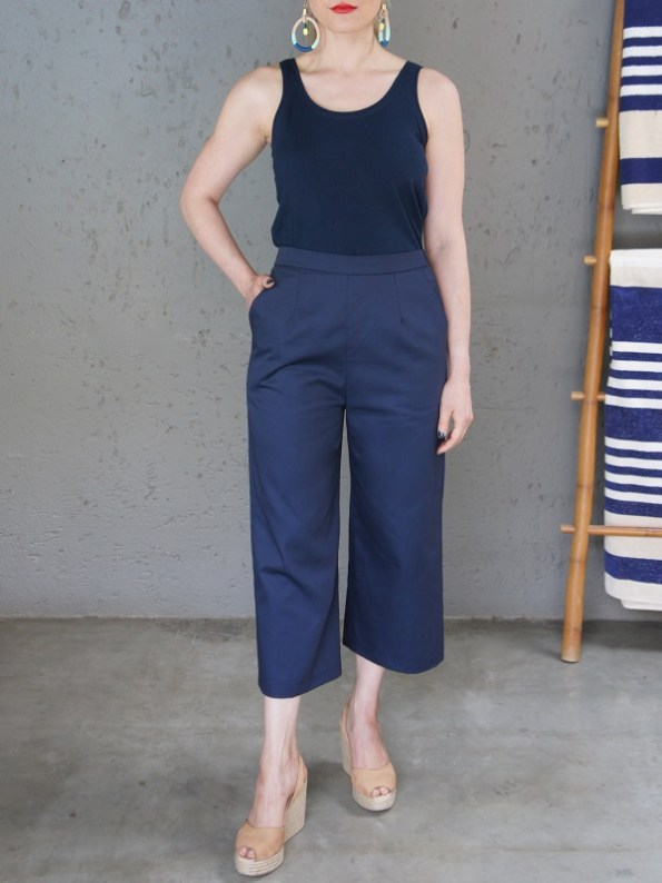 JMVB Navy Tank Top with Navy Culottes Front