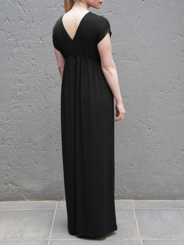 JMVB Rain Maxi Dress Black Back