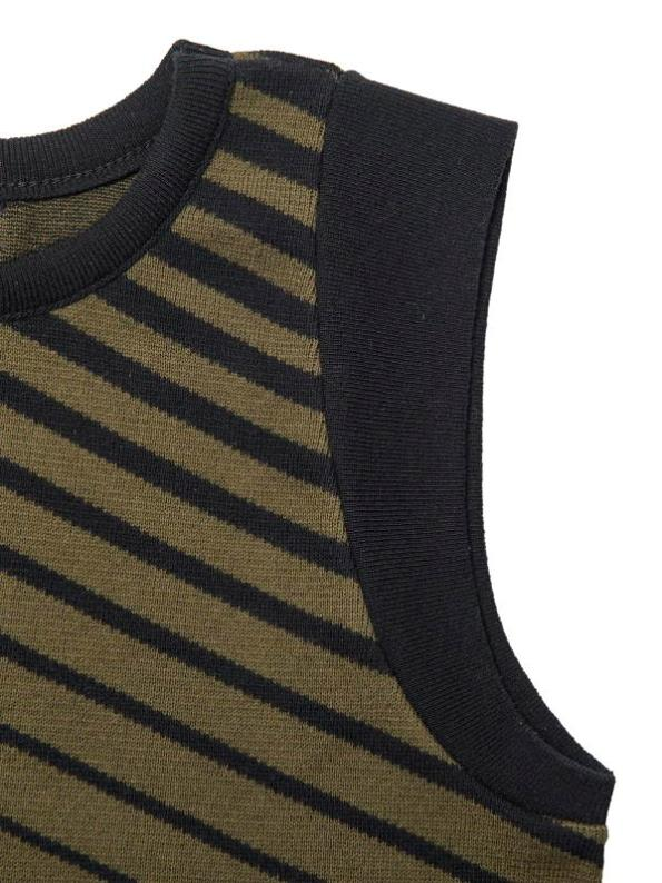 Romaria Olive Tank Top Sleeve Detail