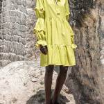 Asha Eleven Safi Linen Dress Limon