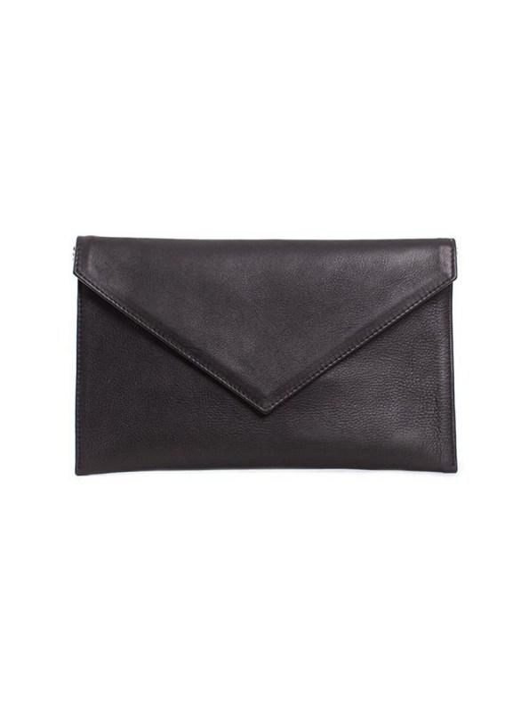 House of Cinnamon Envelope Clutch Black