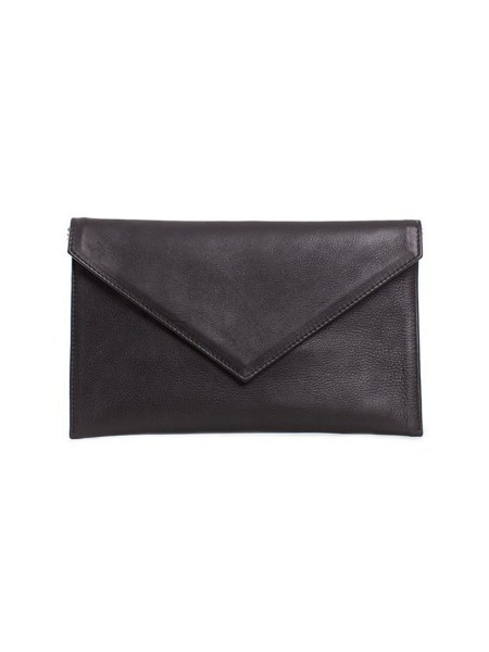 black envelope shaped clutch bag South Africa