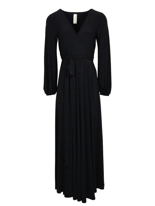 IDV Maxi Wrap Dress Black