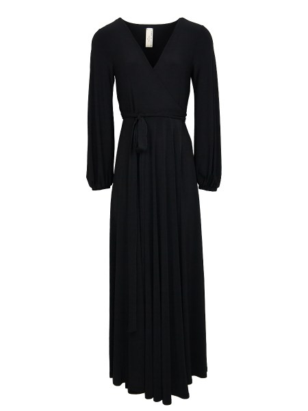 black long sleeve wrap dress South Africa
