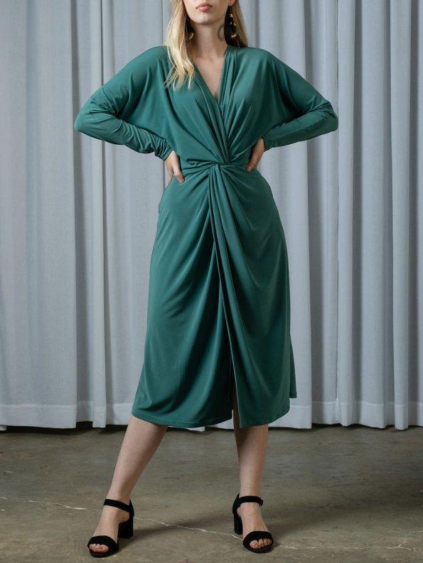 IDV Twist Dress Seafoam 1