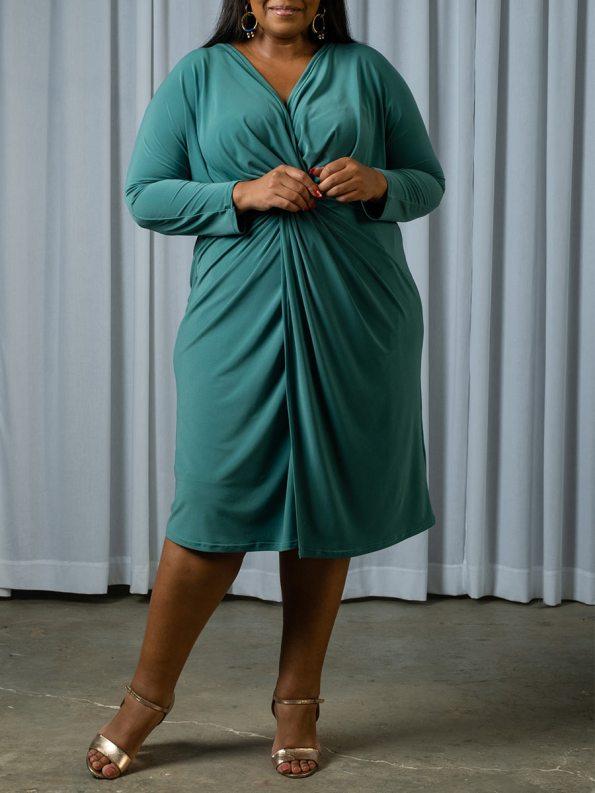 IDV Twist Dress Seafoam 2