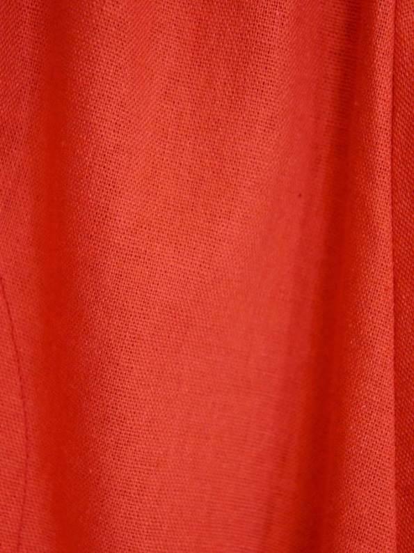 Isabel de Villiers Culottes Linen Deep Orange Fabric