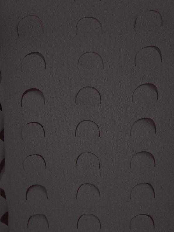 Isabel de Villiers Laser Cut Maxi Dress Black Fabric