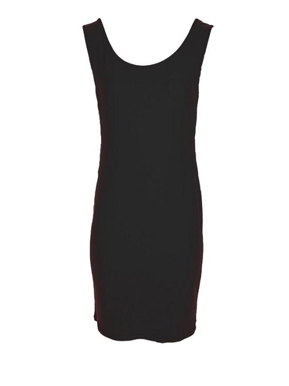 Isabel de Villiers Laser Cut Maxi Dress Black Slip