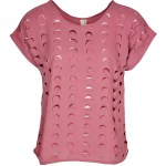 Isabel de Villiers Laser Cut Top Pink