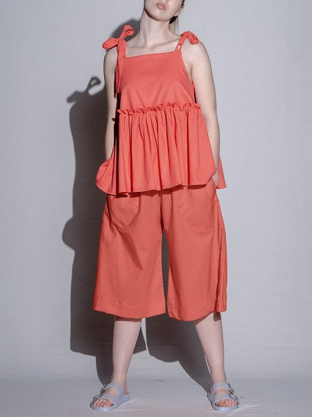 Coral linen culottes South Africa
