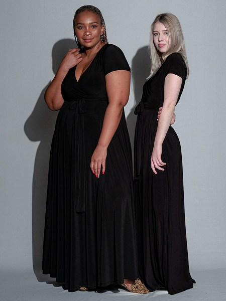 Black wrap maxi dress Plus Size South Africa