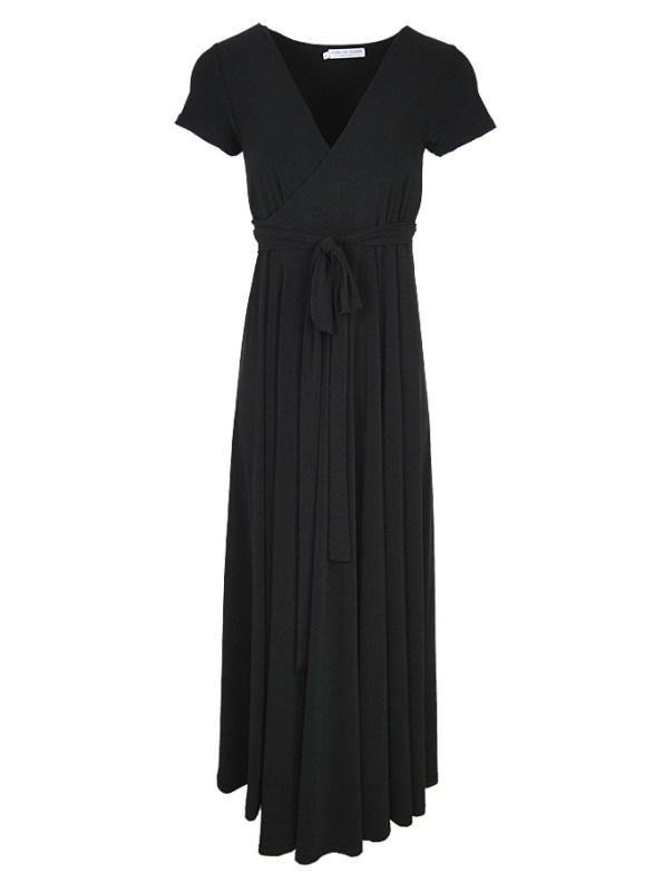 Isabel de Villiers Maxi Wrap Dress Black