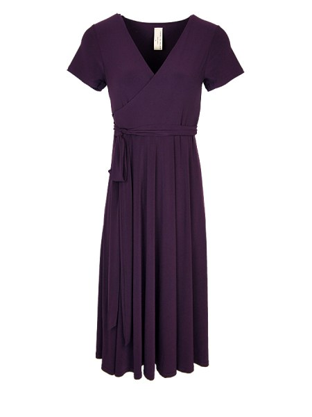purple wrap dress midi South Africa