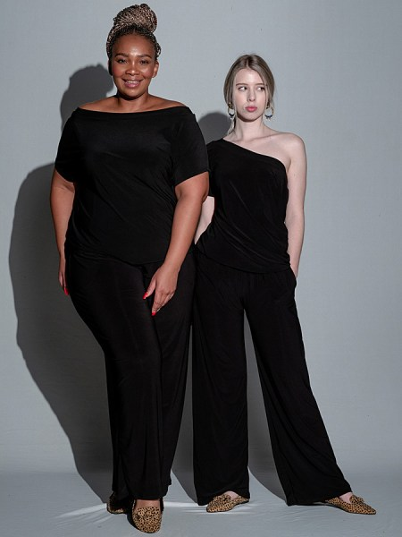 black jumpsuit for ladies plus size South Africa