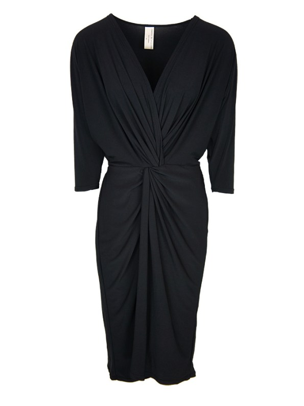 Isabel de Villiers Twist Midi Dress Black