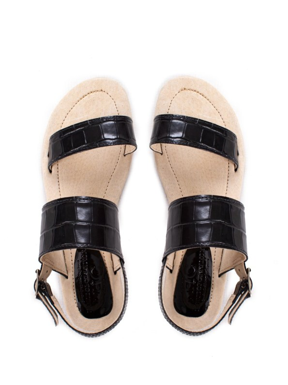 House of Cinnamon Angela Sandal Black Pair