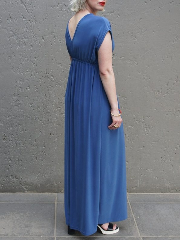 JMVB Rain Maxi Dress Peacock Blue Back