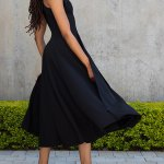 Erre Bow Fit & Flare Dress Black