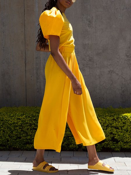 yellow T-shirt culottes pants South Africa