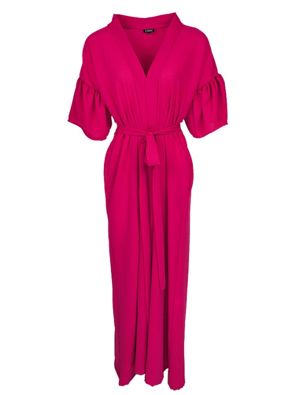 Erre Gather Short Sleeve Cover-up Pink