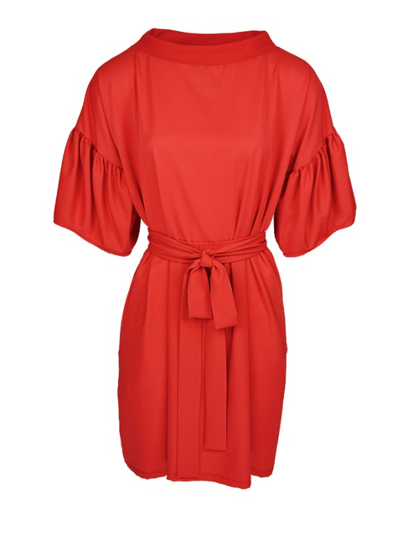 Erre Glide Easy-fit Dress Fire Red