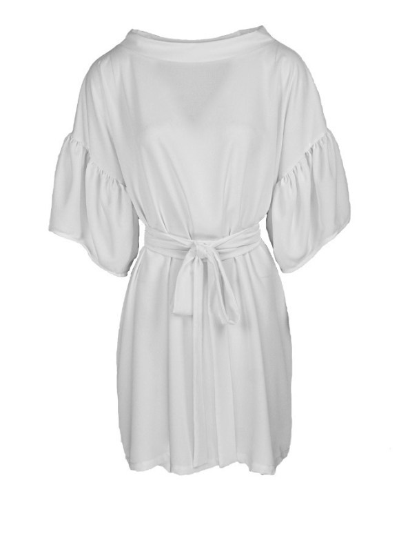 Erre Glide Easy-fit Dress Ivory