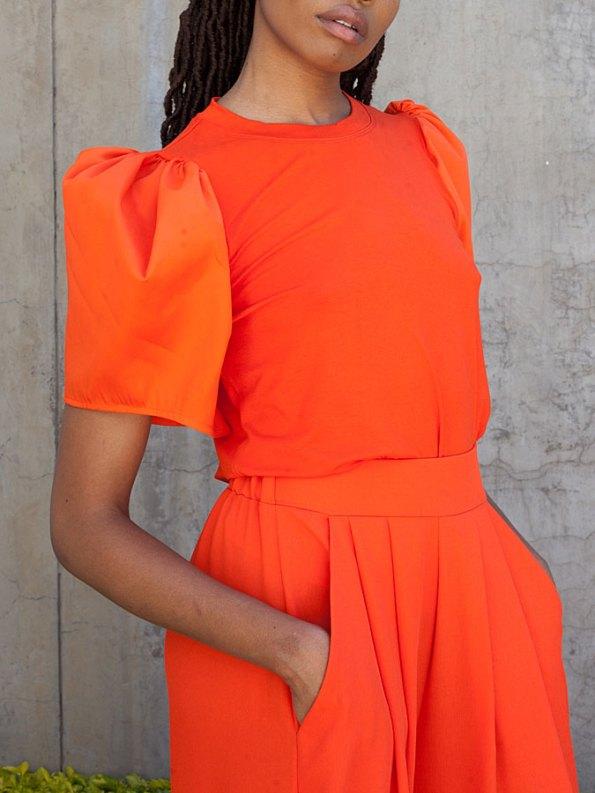 Erre Silhouette T-shirt Orange Side