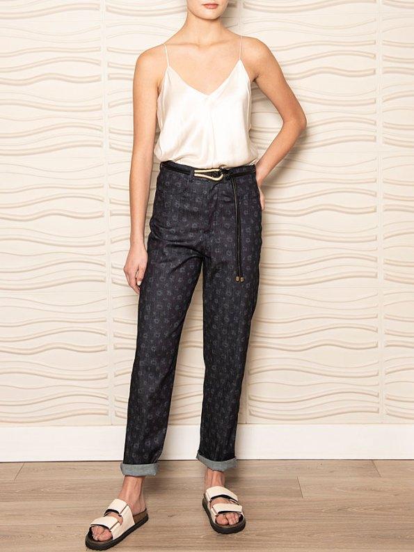 Smudj Floral Jeans Front