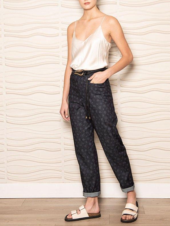 Smudj Floral Jeans Side