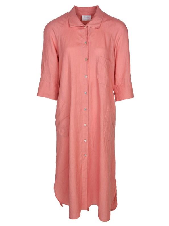 Smudj Seeking Silence Linen Dress Pink
