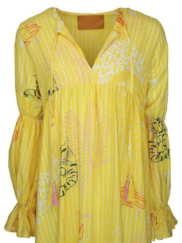 Asha Eleven Dada Maxi Dress Everything is Everyone Closeup