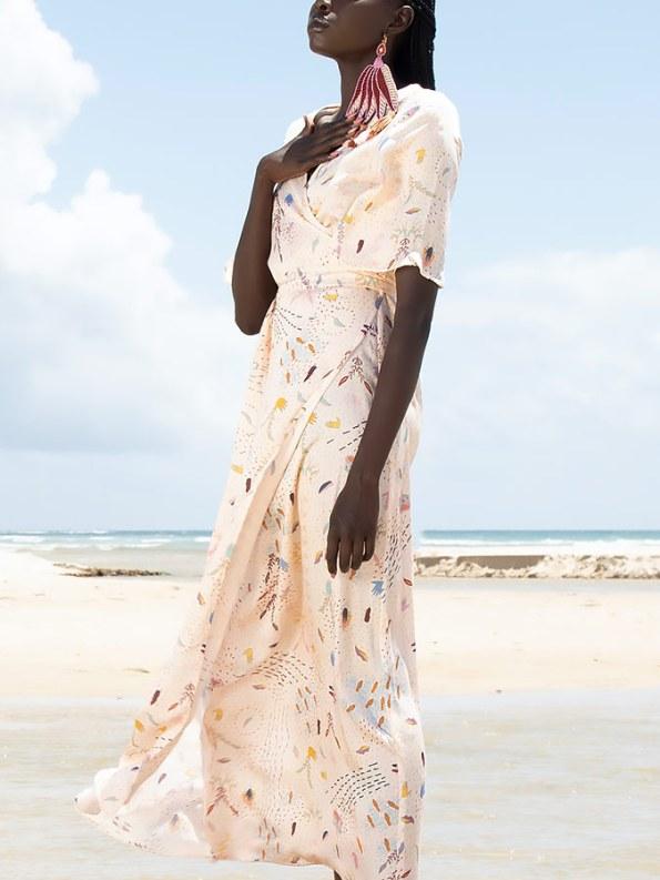 Asha Eleven Diani Wrap Dress Follow Your Signs Crop