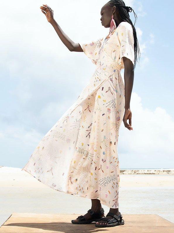 Asha Eleven Diani Wrap Dress Follow Your Signs Side