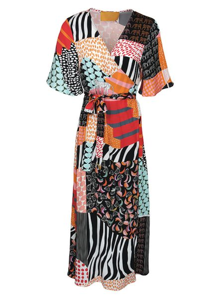 Wrap around dress multi-colour South Africa