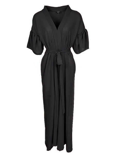 black lightweight coat coverup kimono South Africa