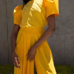 Erre Puff Sleeve T-shirt Yellow