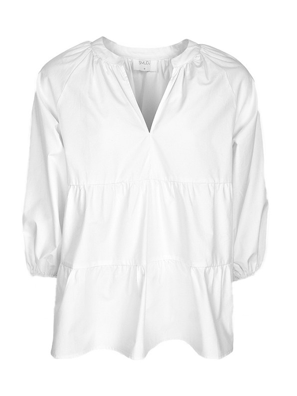 Smudj Eleventh Hour Babydoll Top White 2