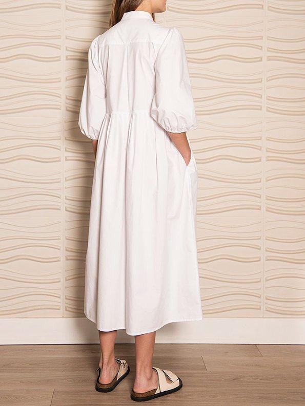 Smudj Eleventh Hour Dress White Angle back