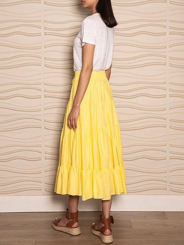 Smudj Ella Tiered Skirt Angle Back