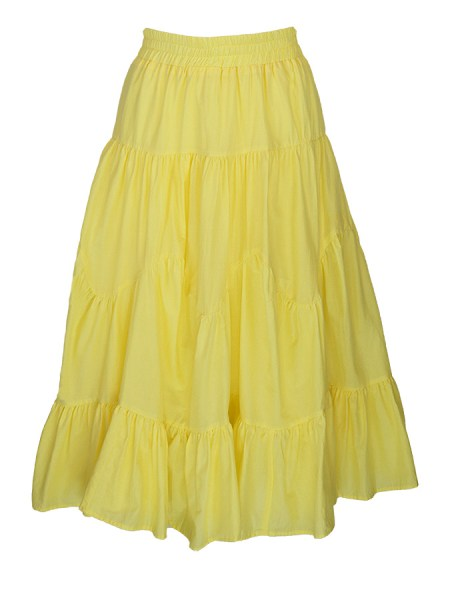 yellow tiered skirt cotton South Africa