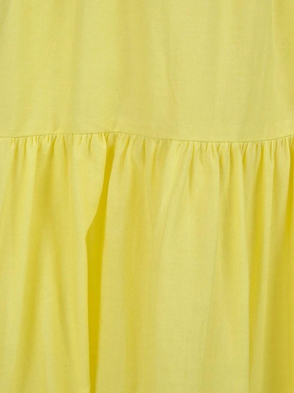 Smudj Ella Tiered Skirt Fabric