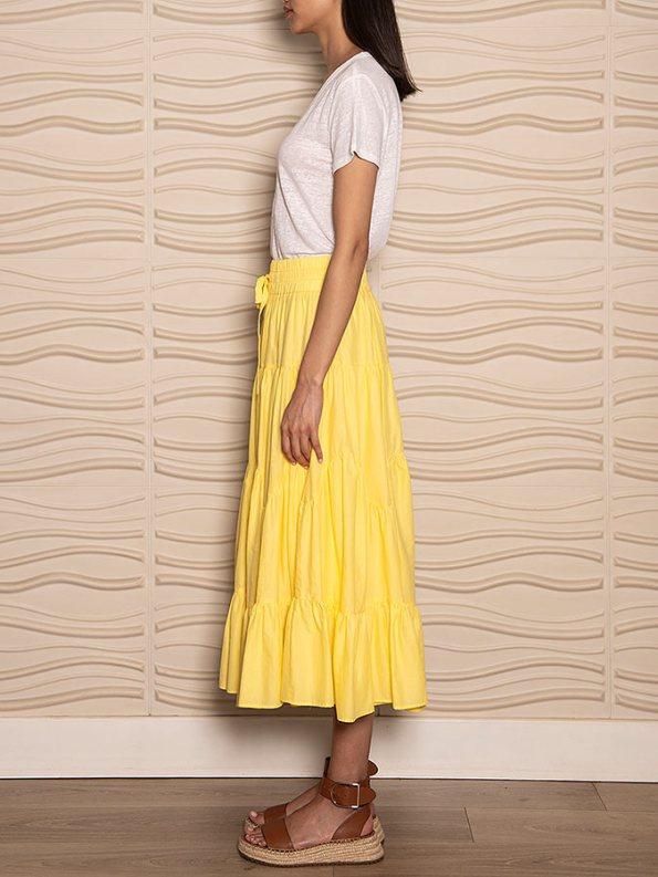 Smudj Ella Tiered Skirt Side