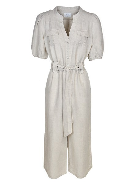 linen jumpsuit neutral