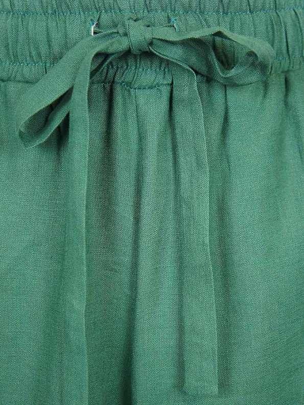 Smudj Seeking Silence Linen Track Pants Green Detail