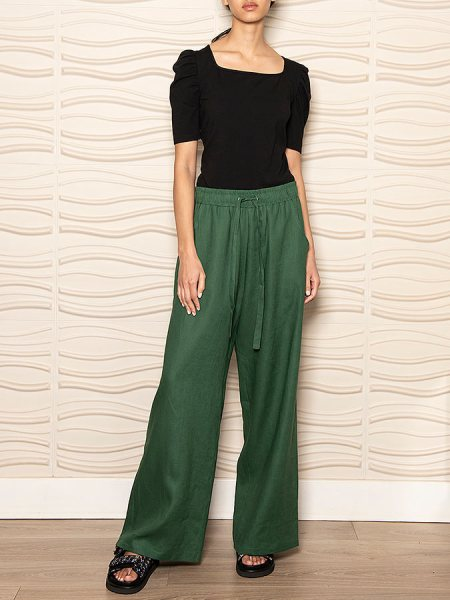 Green linen track pants for women South Africa