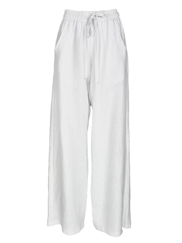 Smudj Seeking Silence Linen Track Pants White